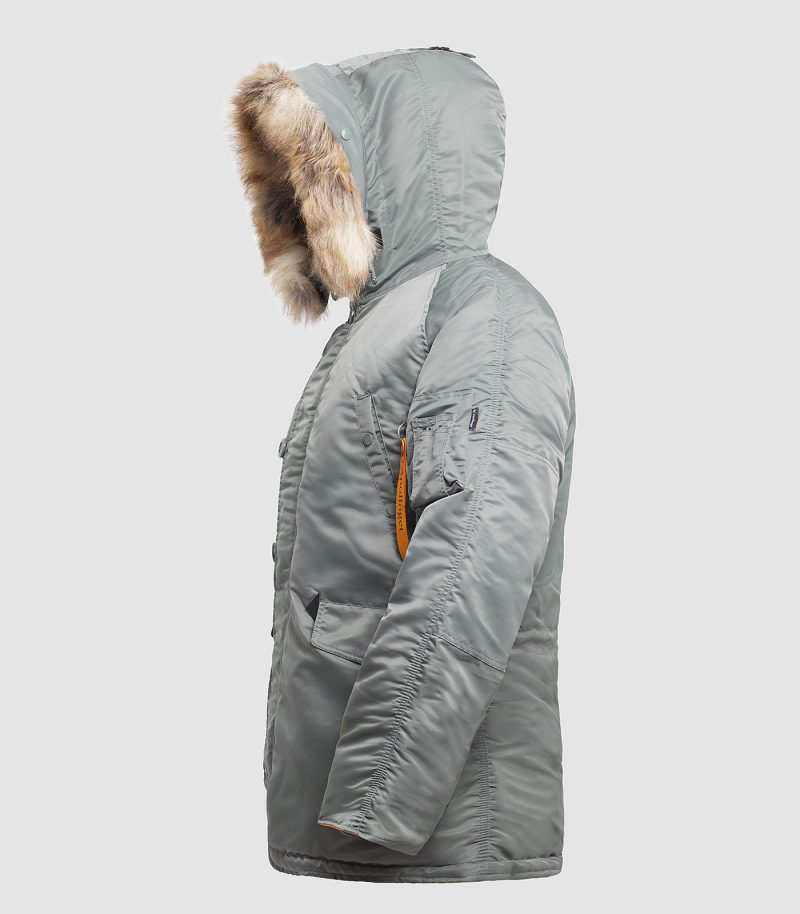 Куртка Аляска HUSKY OLIVE\ORANGE вид мини 2